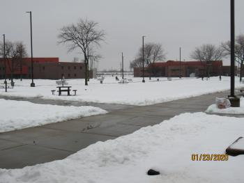OCC yard in snow